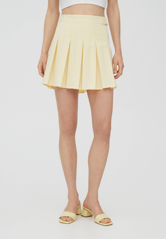 Femme MIT KELLERFALTEN UND SCHNALLE - Jupe plissée