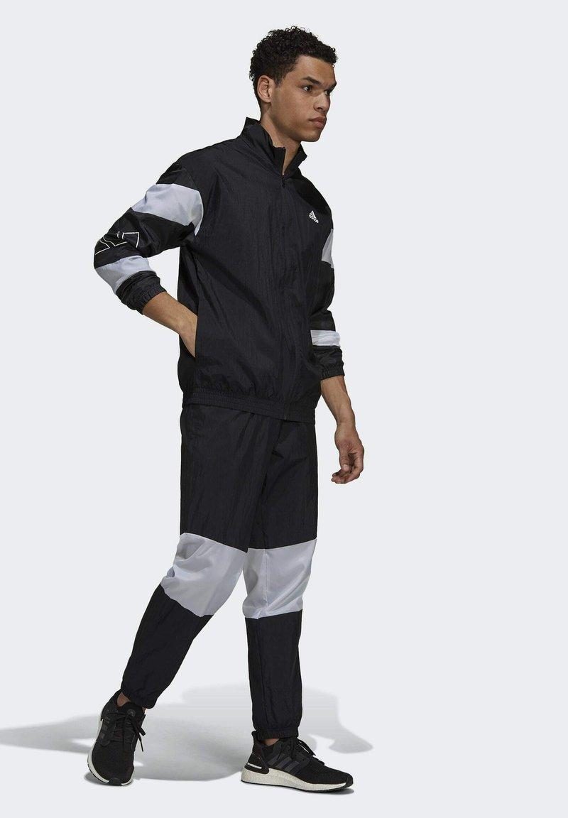 adidas Performance - Tepláková souprava - black/white