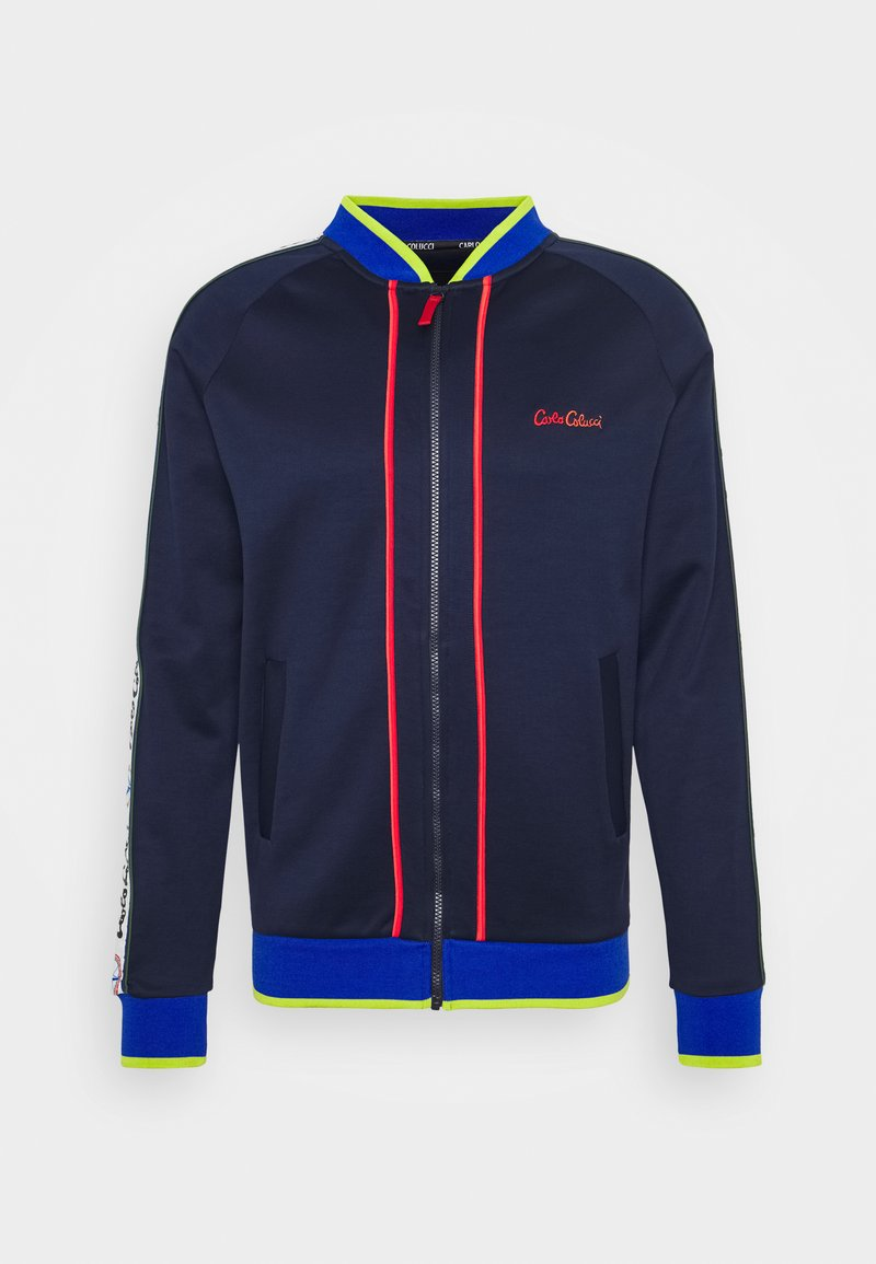 Carlo Colucci - SIDE TAPE - Bomber Jacket - blue