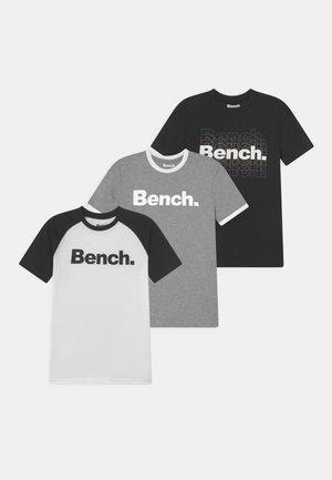 RUCKER 3 PACK - Print T-shirt - grey/white/black