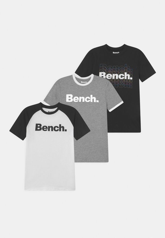 RUCKER 3 PACK - T-shirt print - grey/white/black