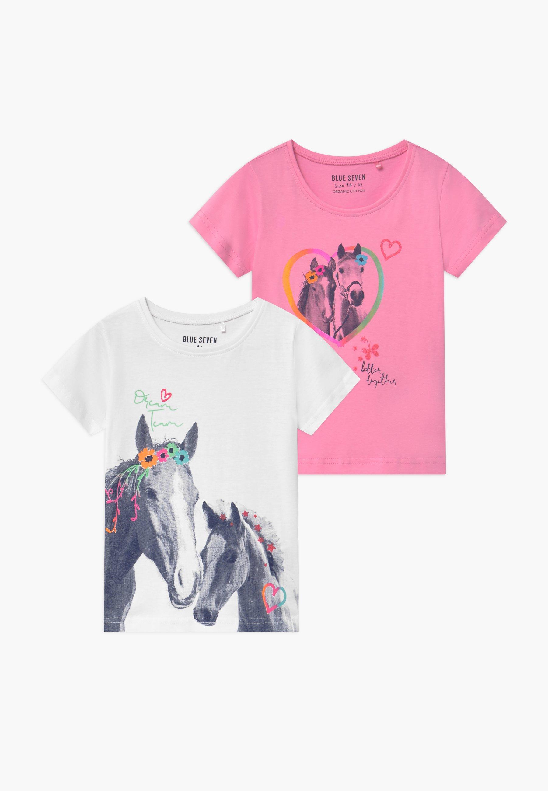 Kids SMALL GIRLS HORSE 2 PACK - Print T-shirt