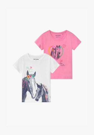 SMALL GIRLS HORSE 2 PACK - Print T-shirt - multi