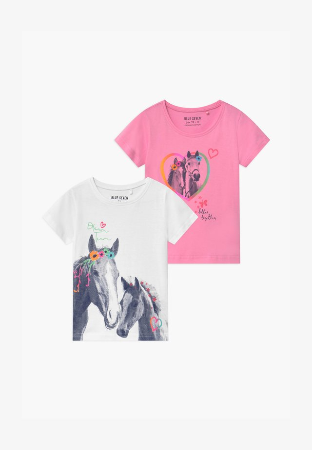 SMALL GIRLS HORSE 2 PACK - T-shirt med print - multi