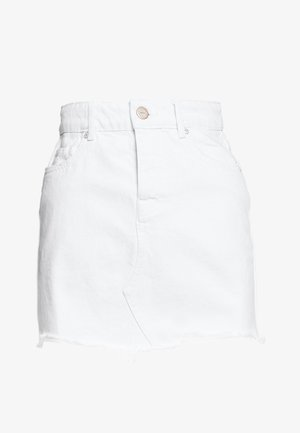 ONLSKY SKIRT RAW EDGE  - Minihame - white