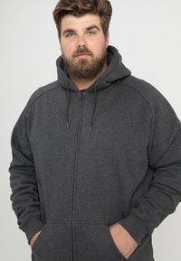 Urban Classics - ZIP HOODY - Zip-up hoodie - charcoal - 4
