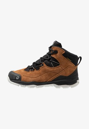 MTN ATTACK 3 TEXAPORE MID - Hiking shoes - desert brown/black