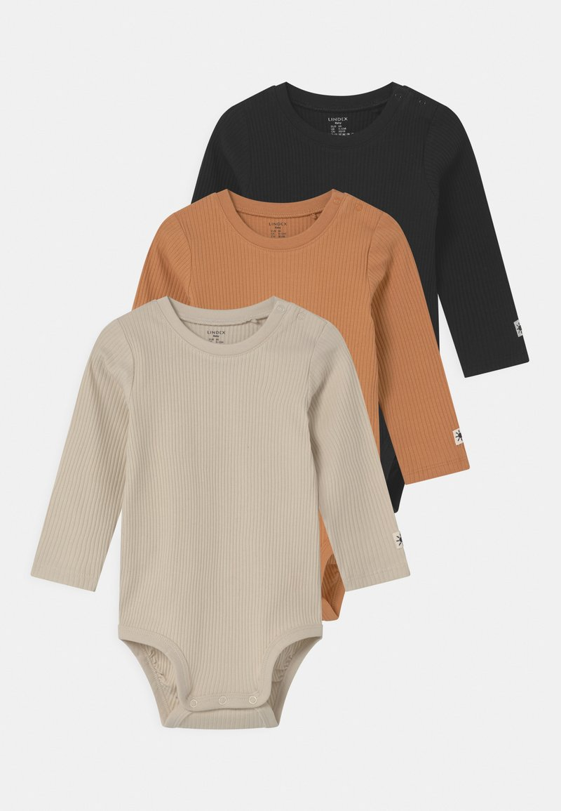 Lindex - BASIC 3 PACK UNISEX - Body - beige