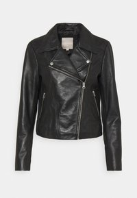 Pieces - PCSUSSE JACKET - Veste en cuir - black - 6