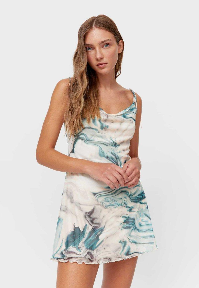 Stradivarius - Jersey dress - khaki