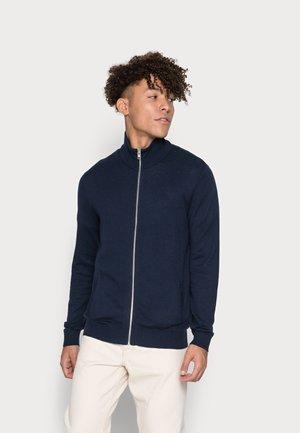 JJEMIL TURTLE ZIP CARDIGAN - Cardigan - navy blazer