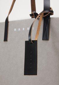 Marni - TRIBECA  UNISEX - Tote bag - natural grey/black - 3