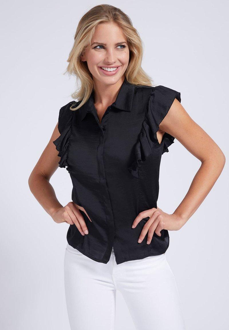 Guess - Button-down blouse - schwarz
