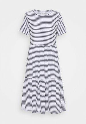 OBJSTEPHANIE DRESS  - Jersey dress - white