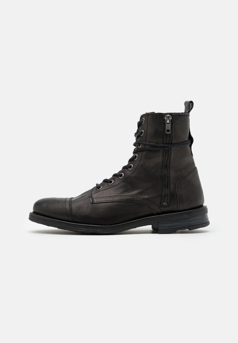 Walk London - STIGMA BOOT - Lace-up ankle boots - black
