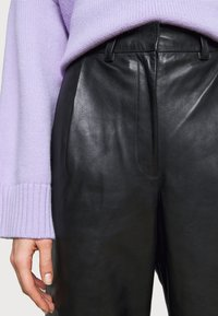 Lovechild - LUCAS - Leather trousers - black - 6