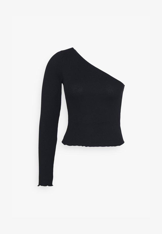 JANNI ONE SHOULDER  - Langærmede T-shirts - black