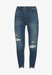Abercrombie & Fitch - Jeans Skinny Fit - dark destroy - 4