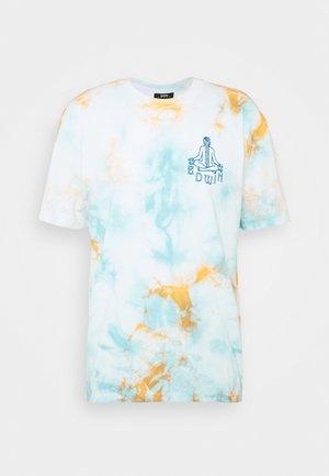MEDITATION - Print T-shirt - blue / cantaloupe