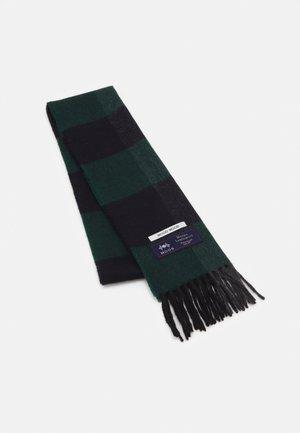 KARLO CHECK SCARF UNISEX - Sjaal - dark emerald