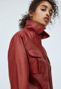 Pepe Jeans - LENA - Leather jacket - tibetan red - 3