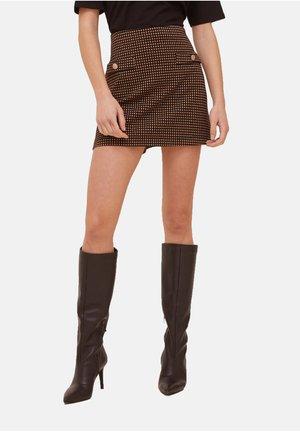 mit Taschen-Motiv - A-line skirt - nero