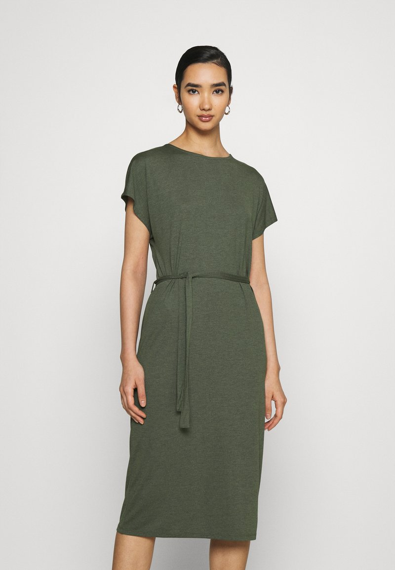 JDY - JDYURBAN GABRIELLA BELT DRESS - Jersey dress - kalamata