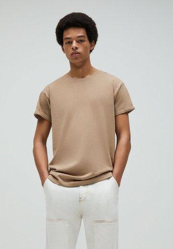 T-shirt - bas - mottled beige