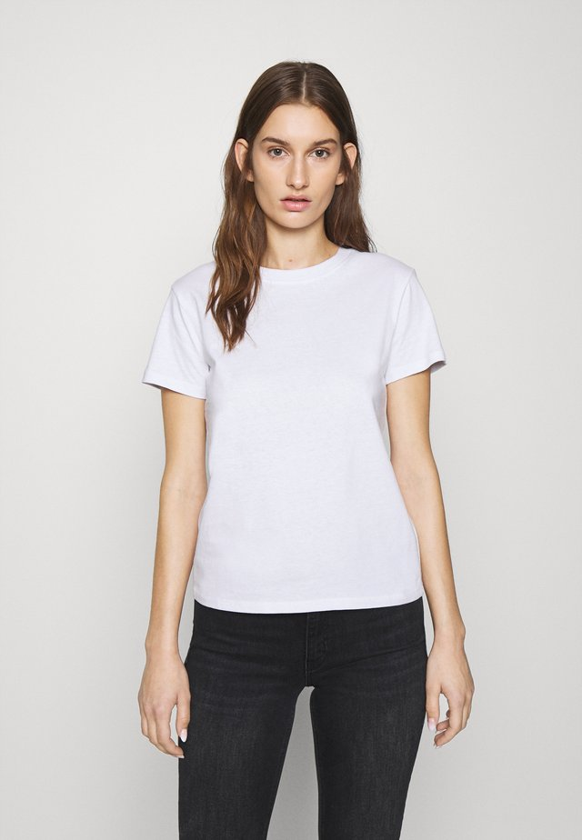 BASIC SHORT SLEEVE TOP - Camiseta básica - white