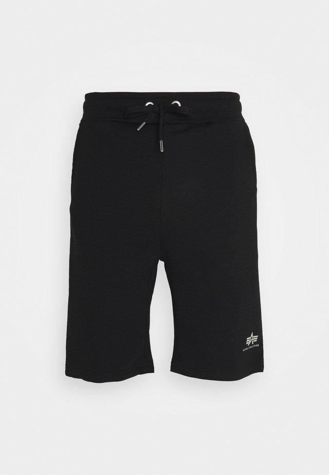 BASIC FOIL PRINT - Shorts - black/metal silver