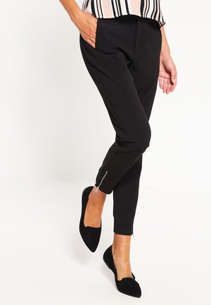 NICA PANTS - Tygbyxor - black