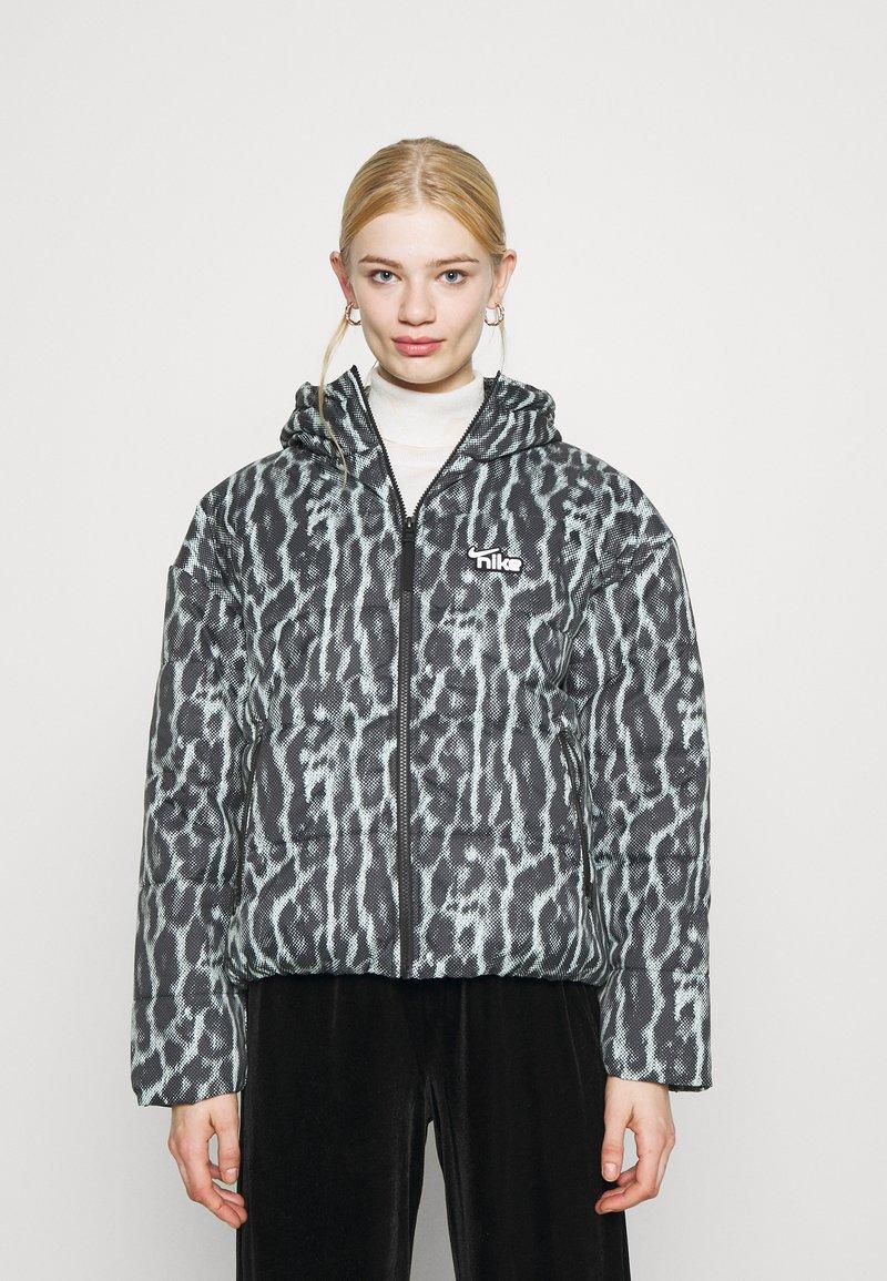 Nike Sportswear - Winter jacket - smoke grey/black/white