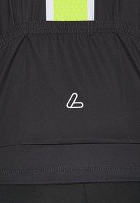 LÖFFLER - BIKE PACE - T-Shirt print - black/light green - 5