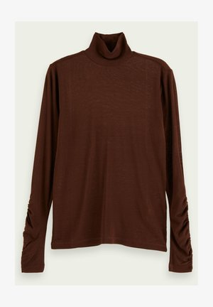 Long sleeved top - espresso