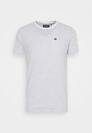 Print T-shirt - bright white/blue