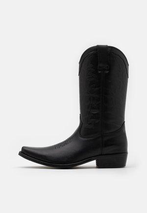 BIADALEN WESTERN BOOT - Kowbojki i obuwie motocyklowe - black