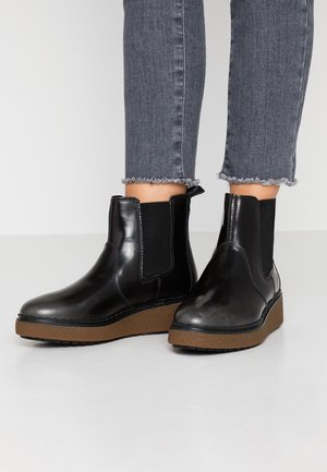 BELL LANE - Platform ankle boots - mid grey/brush off