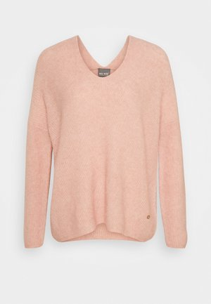 THORA V NECK - Jumper - peach beige