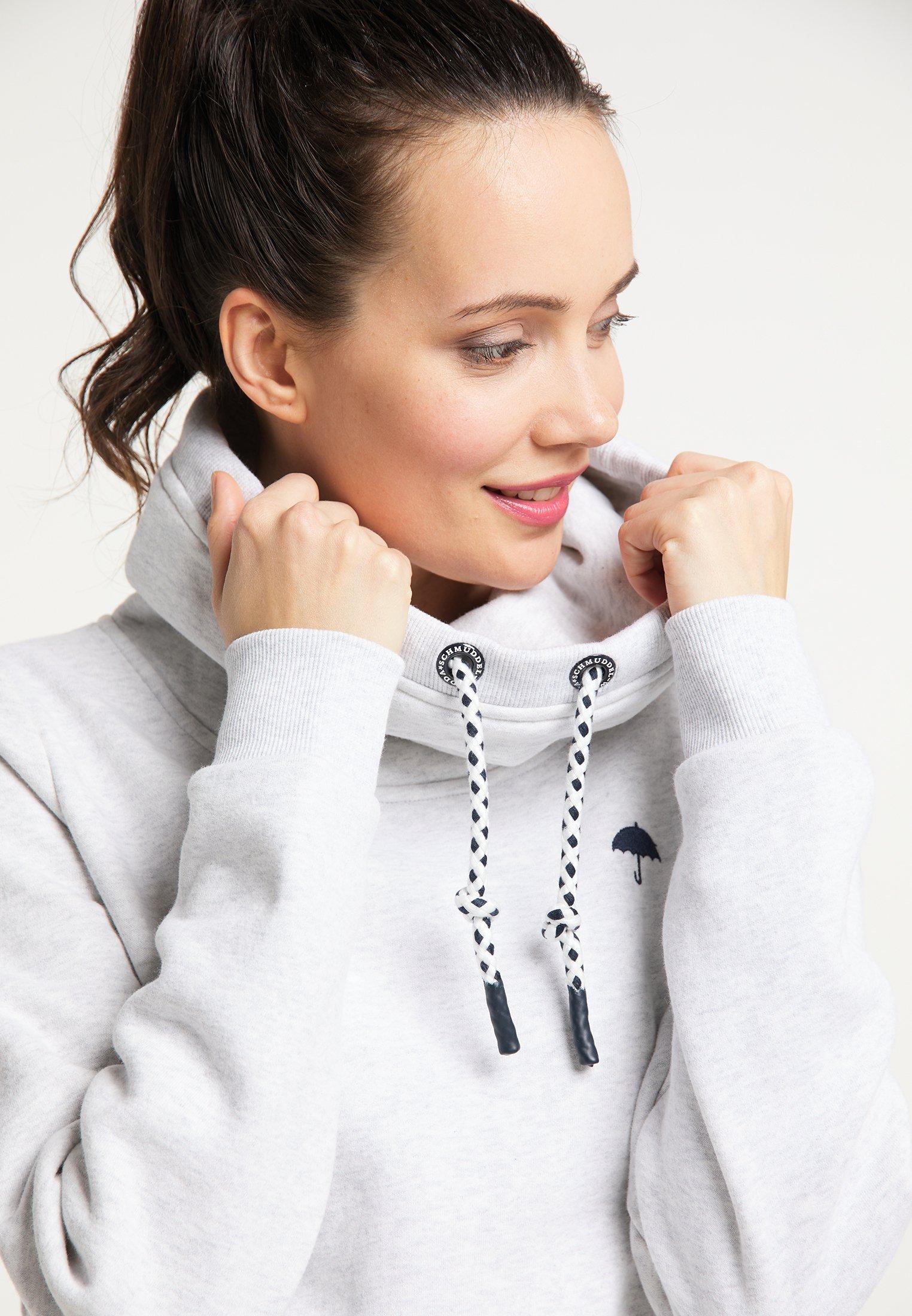 Good Selling Women's Clothing Schmuddelwedda Hoodie wollweiss melange q1F5LqrgE