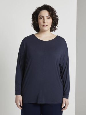 Long sleeved top - real navy blue                blue