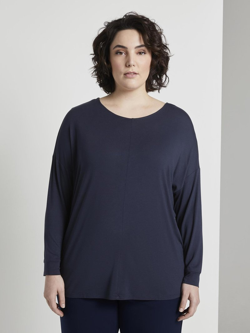 MY TRUE ME TOM TAILOR - Long sleeved top - real navy blue                blue