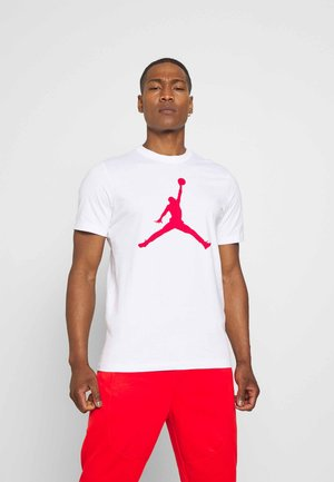 JUMPMAN CREW - T-shirt med print - white/gym red