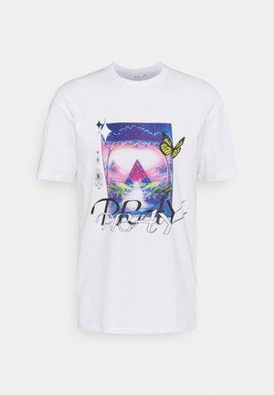 WONDERLAND UNISEX - Print T-shirt - off white