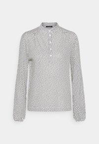 Long sleeved top - white/black