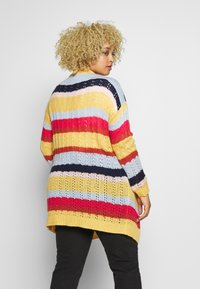 ONLY Carmakoma - CARMETA LONG - Cardigan - hot sauce/multicolour stripe - 2