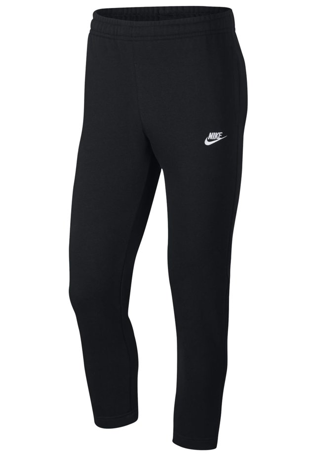 NIKE SPORTSWEAR CLUB MEN'S FRENCH TERRY TROUSERS - Pantaloni - black/black/white