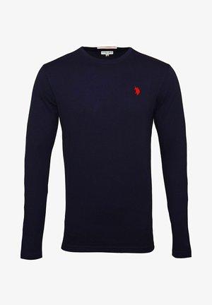 LONGSLEEVE MIT RUNDHALSAUSSCHNITT R-NECK - Long sleeved top - dunkelblau