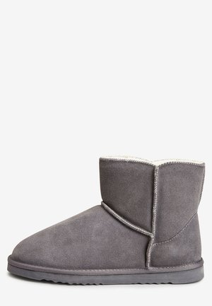 CHESTNUT SUEDE SLIPPER BOOTS - Classic ankle boots - grey
