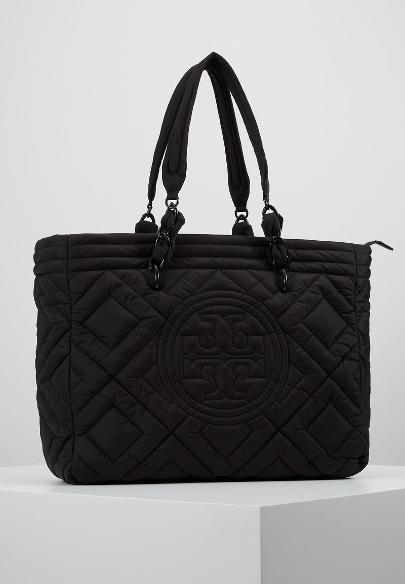 Tory Burch - FLEMING QUILTED TOTE - Tote bag - black