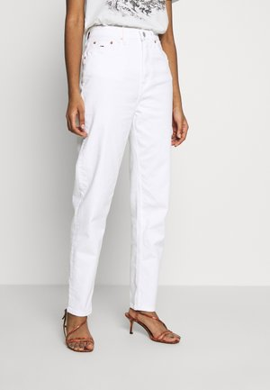 MOM TAPERED - Jeansy Relaxed Fit - white